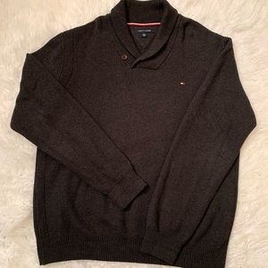 Tommy Hilfiger Gray Shawl Collar Sweater Size XXL